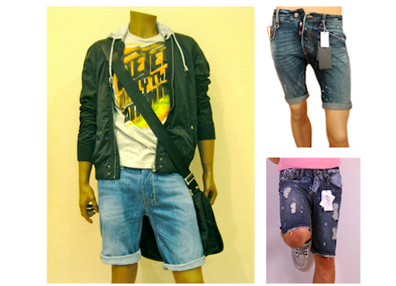 Cut Up Shorts For Men