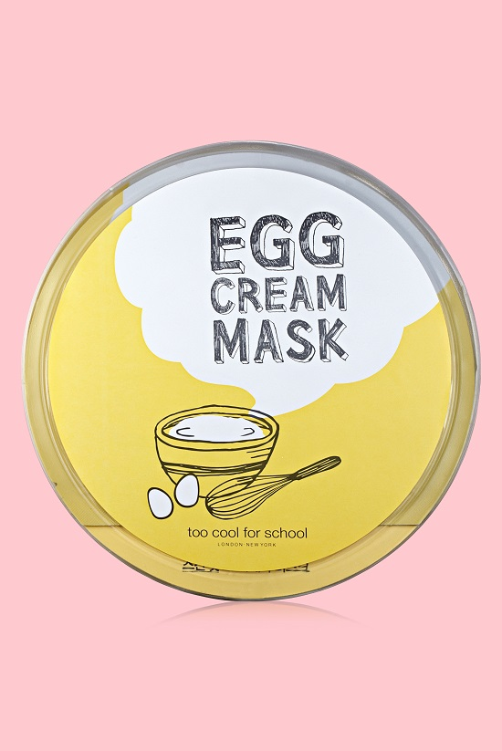 TOO COOL FOR SCHOOL_EGG CREAM MASK SET_$24