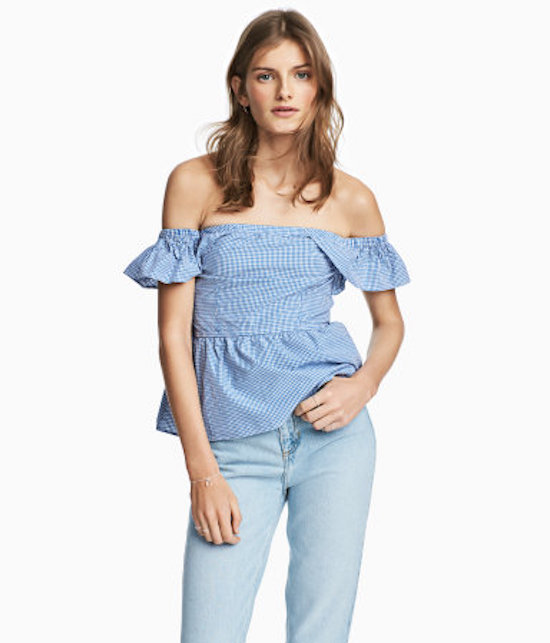 hm-blue-gingham-top