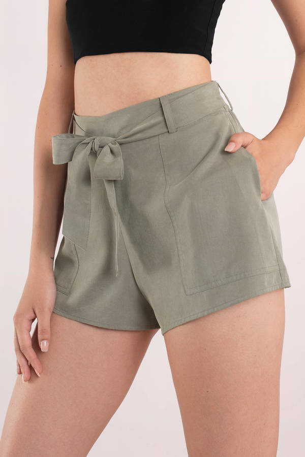 olive-show-off-washed-tencel-shorts